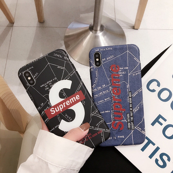 Wholesale TPU phone case fashion For iPhone 6S 7 8 P X XS Graffiti cowboy Designer phone back cover For gifts