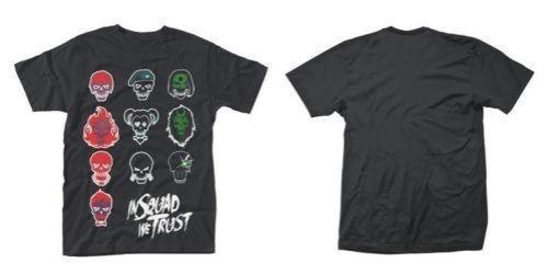 Nuevo comando suicida Oficial - en la selección CARAS la camiseta 2018 camisetas de la moda de punto cómodo Hip Hop tejido de manga corta