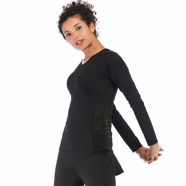 Mangas compridas das mulheres Novo vestido de malha de algodão elegante Lulu Elegante e auto-cultivo das mulheres estilo cor pura jaqueta casual quente 0861