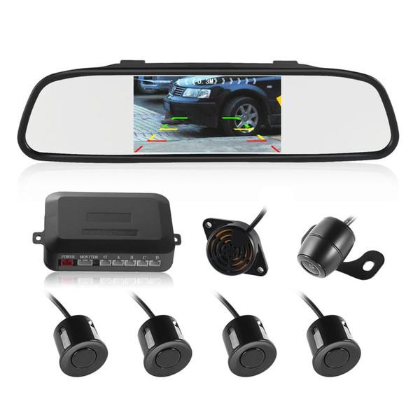 Traitement haute technologie Système d'aide au stationnement intelligent 4 capteurs Capteur de stationnement Caméra de recul Caméra de recul avec moniteur LCD TFT voiture