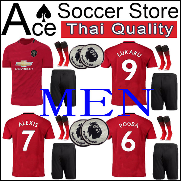 newest collection 03e70 7ecb1 2019 New Manchester MEN SET Soccer Jersey 19 20 Home United POGBA ALEXIS  MATA LUKAKU FRED RASHFORD Matic Shirt Adult Kit Red 2019 2020 Shirt From ...
