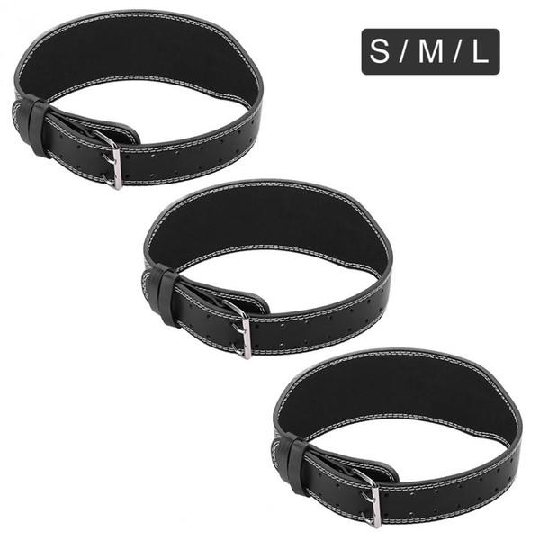 Weightlifting Belt Waist 70-110 CM Artificial Leather Weight Lifting Belt Gym Fitness Training Gym Equipment