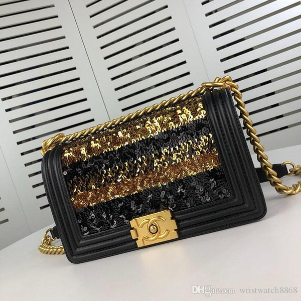Designer luxury handbags purses women genuine leather simple retro atmosphere shoulder bag fashion versatile chain bag 67086 w98