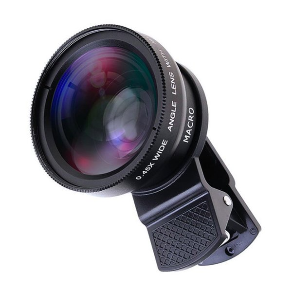 2 Functions Mobile Phone Lens 0.45X Wide Angle Len 12.5X Macro HD Camera Lens Universal for iPhone Android Phone