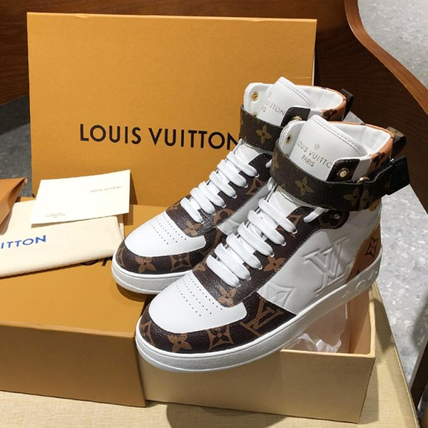 2019k New listing Fashion High top Mens Womens Wild Casual sport Shoes Design personality Printed pattern ,Fashion Couple Casual shoes 35-46