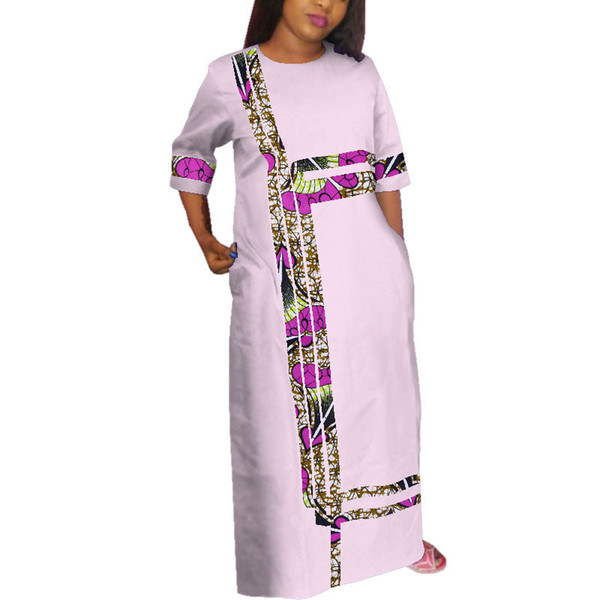 African Style Ankara Dresses for Women Lace & Print Splice Party Dress Dashiki Plus Size Traditional African Dresse WY3815