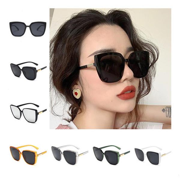 European Fashion Women Retro Sunglasses Square Sun Glasses Goggles Anti-UV Spectacles Oversize Frame Eyeglasses SUN Glasses A++