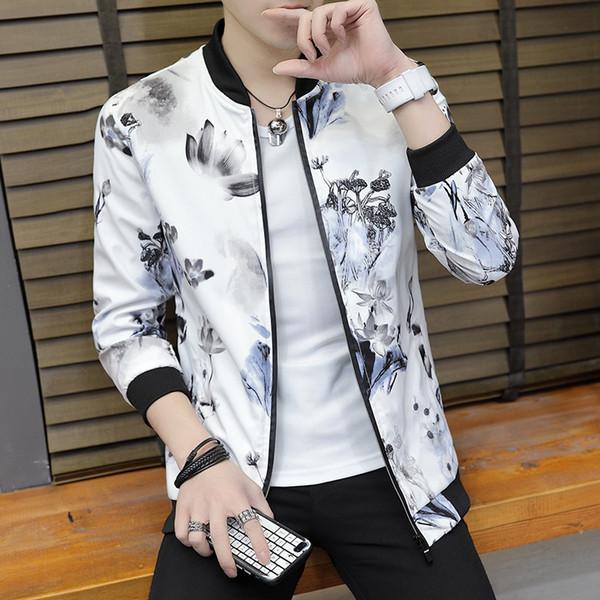 2019 verão estilo vintage mais homens estilo chinês falso dois pcs casacos manga comprida gótico brocade casaco masculino blusão
