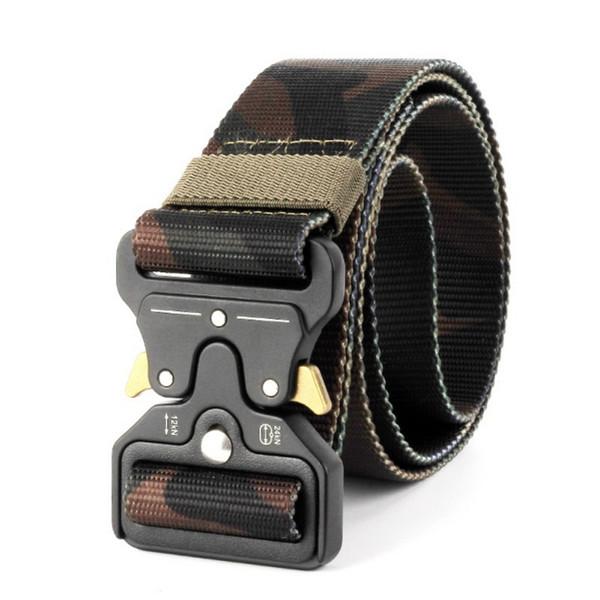 1.2 m mejorado cinturón táctico de nylon Tactical Gear Cinturón de servicio pesado protector de cinturón para exteriores Tactical Hunting Accessori # 456990