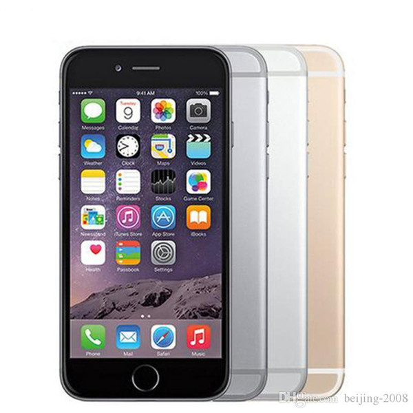 "Original iPhone 6 iphone6 plus Dual Core 4.7""5.5'' 16GB/64GB/128GB 8MP without fingerprint Refurbished unlocked phone 1pc DHL Free"