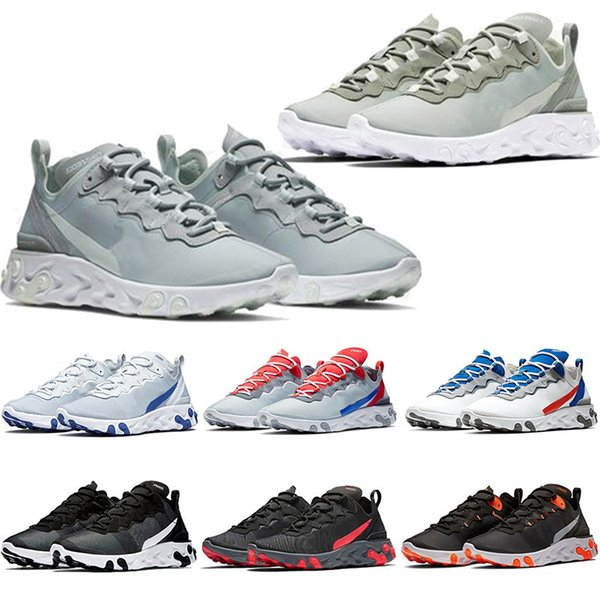 Triple 2019 Black Solar Red React Element 55 Total Orange Uomo Scarpe da corsa per donna Designer Sport Uomo Donna Trainer 55s Sneakers 36-45