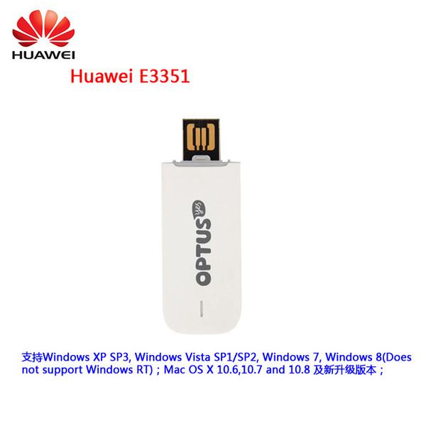 Desbloqueado huawei E3351 E3351s-2 3g DC-HSPA + 43.2 Mbps Módem USB de Banda Larga USB Dongle PK huawei e1750 e1752 E3131 e8231