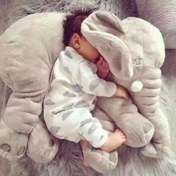 60CM One Piece Cute 5 Colors Elephant Plush Toy With Long Nose Pillows PP Cotton Stuffed Baby Cushions Super Soft Elephants Toys SH190913