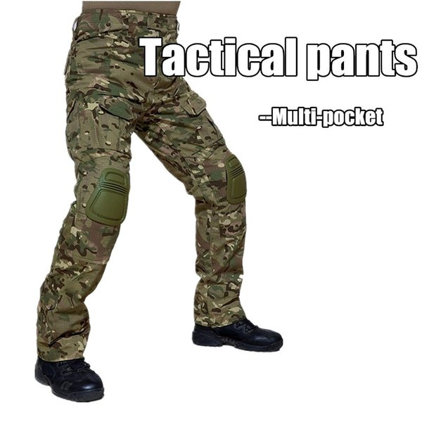 Camouflage Tactical Clothing Paintball Army Cargo Pants Combat Trousers Multicam Militar Tactical Pants with Knee Pads