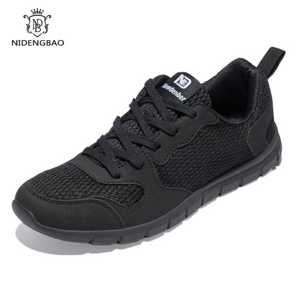NIDENGBAO Erkekler Rahat Ayakkabılar Kalın Rahat Örgü Ayakkabı Erkekler Yürüyüş Ayakkabı Hafif Erkek Sneakers Artı Büyük Boy 47 48 49 50