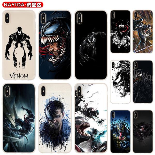Soft Phone Case For iPhone 11 Pro X XR XS Max 8 7 6 6S 6Plus 5S S10 S11 Note 10 Plus Huawei P30 Xiaomi Cover Batman Venom
