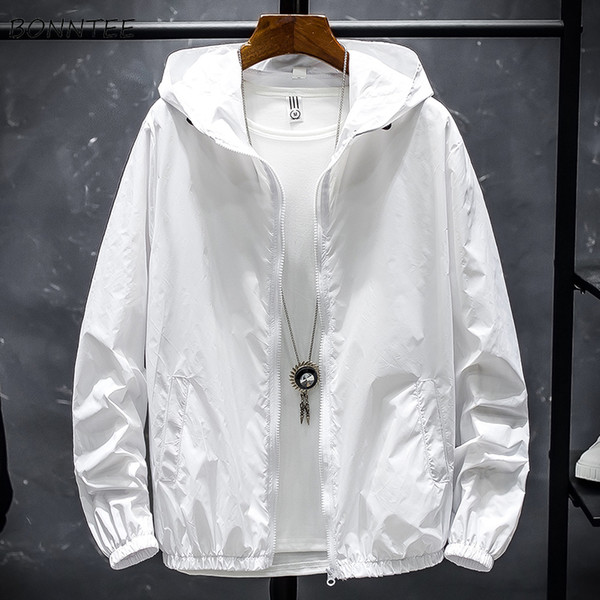 Jackets Leisure Letter Zipper Thin All Match Simple Mens Jacket Korean Style Students Tops Breathable Sunscreen Hot Sale Daily