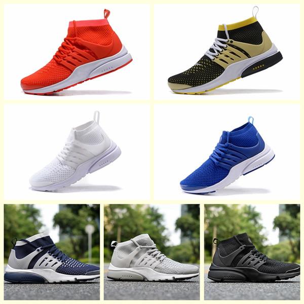 Nike Pristo Flyknit Nouvelle Arrivée Hommes Prestos Haut Haut Chaussures À Tricoter Hommes Zapatos Prestos Ultra Baskets Chaussure Chaussures Femme Chaussures Taille 36