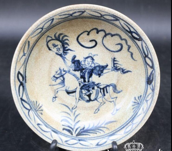 New antiques antique blue and white porcelain Jingdezhen ceramic antique porcelain Da Ming Xuande blue and white plate