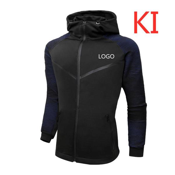KI Pour Hommes Couleur Unie Hoodies Design Logo Homme Imprimé MC Sweatshirts Slim Homme Coton Zip À Capuche Cardigan Creed Vestes Manteaux