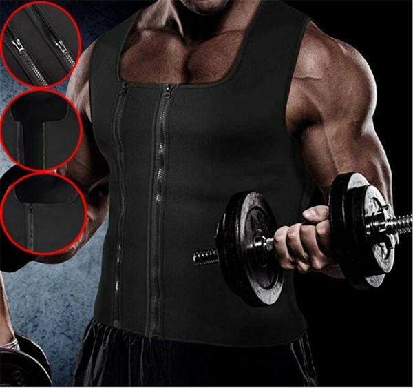 New Hot Men's Slimming Neoprene Vest Sweat Shirt Body Shaper Waist Trainer Shapewear Abdomen Fat Burning Shaperwears Shapers