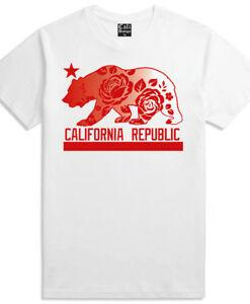 Men/'s California Republic Hoodie With Roses Cali Urban wear Pullover Sweatshirt