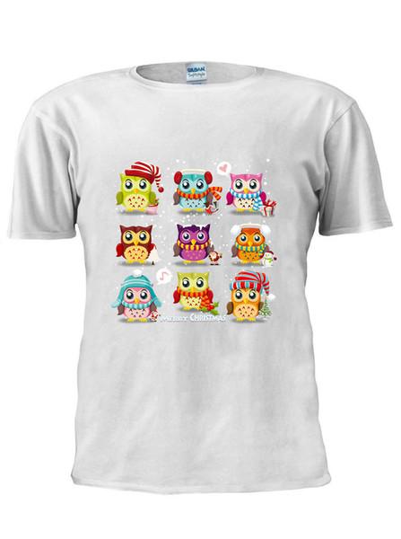 Cartoon Cute Owls T-Shirt Débardeur Débardeur Hommes Femmes Unisexe TShirt XMas Cadeau M156 Drôle livraison gratuite Unisexe