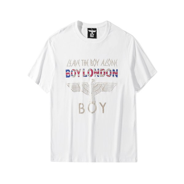 Boy London Mens Designer Short Sleeves Men Women High Quality T Shirt Fashion Eagle Print White Black Tees S-XXXL