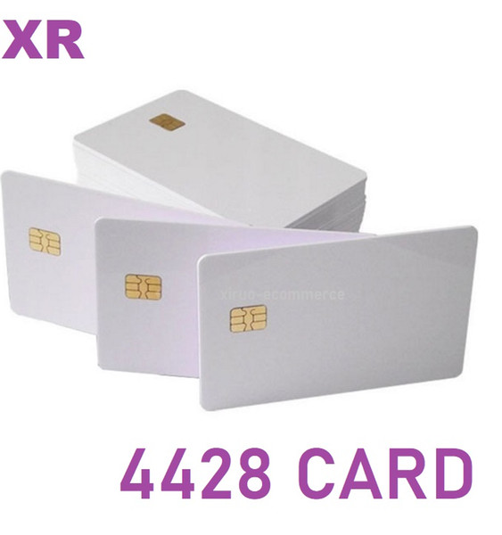 top popular Stock ! Smart PVC Blank 4428 Chip Card Contact IC Card for protection and security logic access control 2021