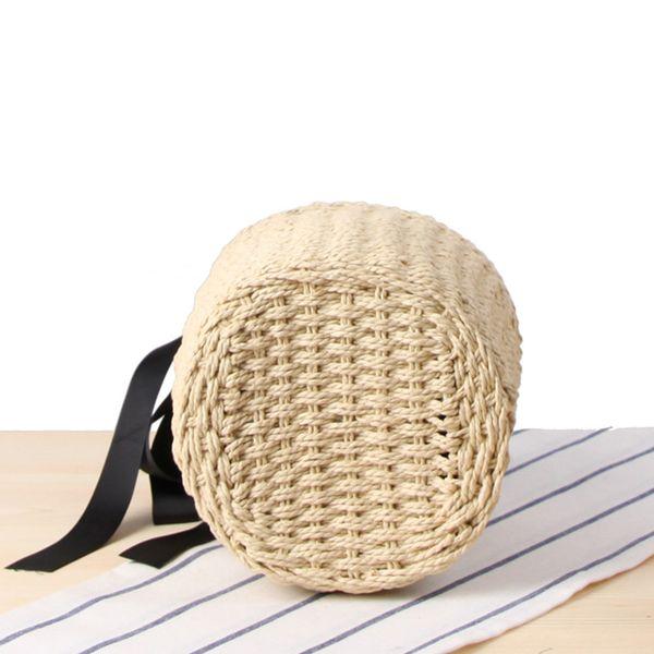 2019 Bolsos superiores de verano Bolso de paja para mujer Bowknot Bolsos de playa  Diseñador de mujer Casual Totes Señoras Vintage Bolsa Feminina Nuevo 0ae2588cfb32