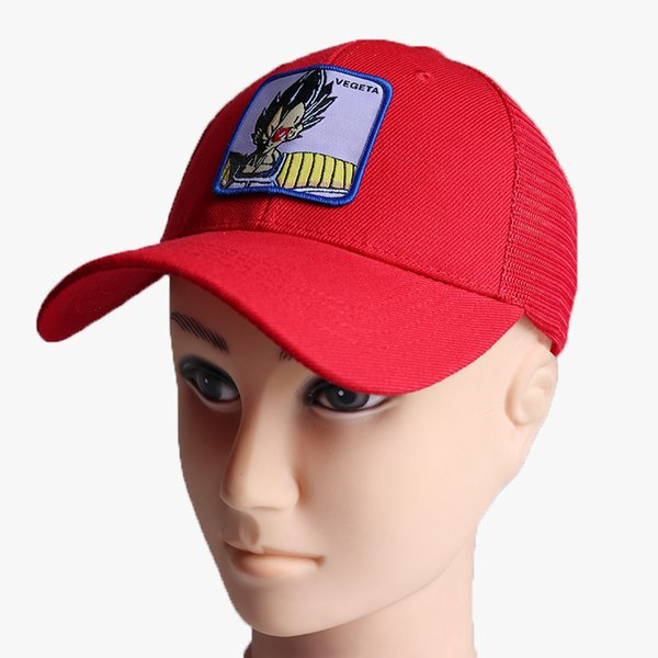 Summer Mesh Baseball Caps Sport Sunhat Anime Visor Dragon Outdoor Ball Casual Cap GOKU VEGETA Fashion Ball Hats Free DHL