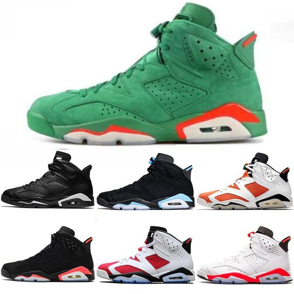 New arrival 6 6s mens basketball shoes INFRARED UNC MAROON TINKER HATFIELD BLACK CAT CARMINE GATORADE men sports sneakers size 8-13 u06