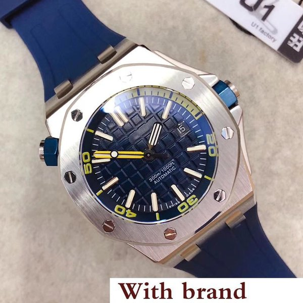 Sale Limited Royal Oak Offshore Diver Automatic Mechanical Movement Watches Stainless Steel Blue Watch 42mm 15710ST Mens Wristwatch
