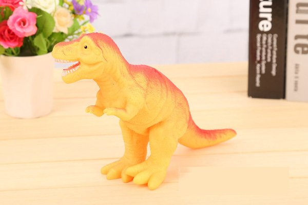 DHL 24pcs Shrilling dinosaur toys 30cm Screaming Rubber dinosaur Squeeze Stress Toy Funny Squeeze Sound Toy children kids Christmas gift