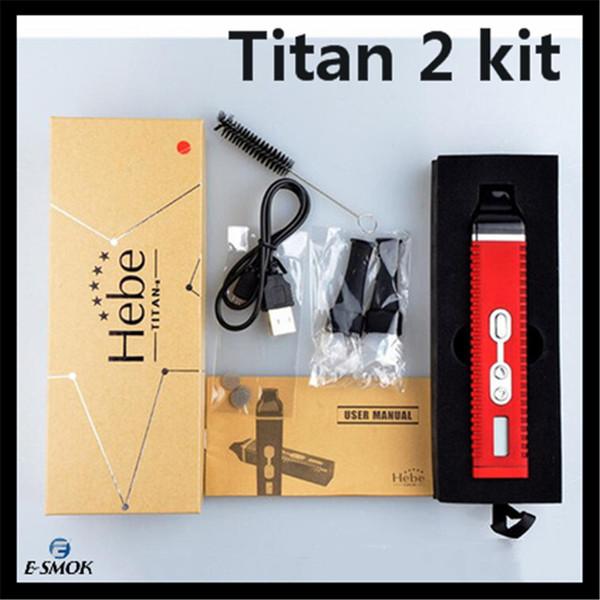 Titan 2 kit Dry herbal Vaporizer E cigarrillo Burn Dry Herbs Vaporizer Pen 2200mAh lcd Pantalla Titan II vapor HEBE Ecig
