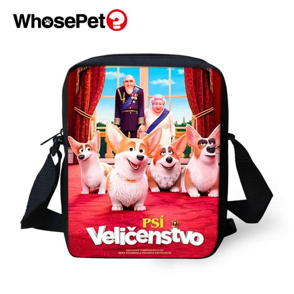 WHOSEPET Die Königin Cor Druckt Cartoon Cross Body Messenger Bags Männer Satchel Klappen Umhängetaschen Coole Schule Mini Postbags