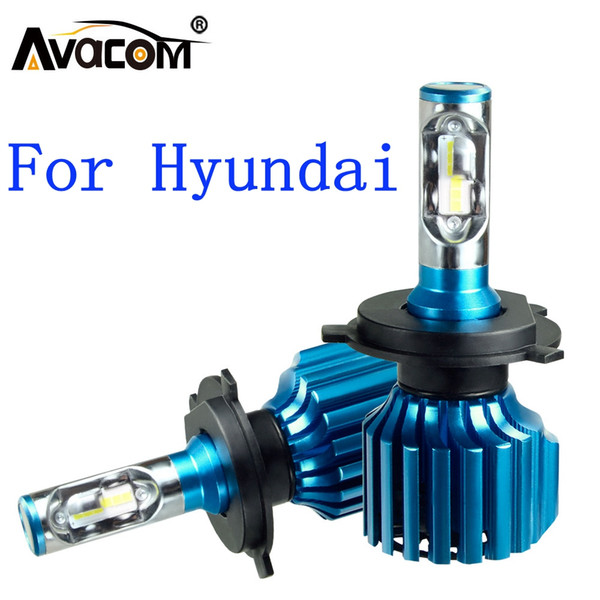 wholesale 2 Pcs LED Car Headlight Bulbs 12V CSP 6500K 12000Lm 72W Auto DRL Fog Light For Hyundai Creta/ix35/Accent/Sonata/Tucson
