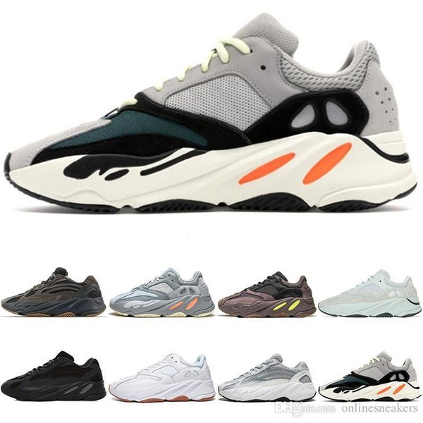 Shoes Running 700 Men Women Wave Runner Designers 700s V2 Salt Wave Geode Inertia Mauve Trainer Sneakers Sport Size 36-45