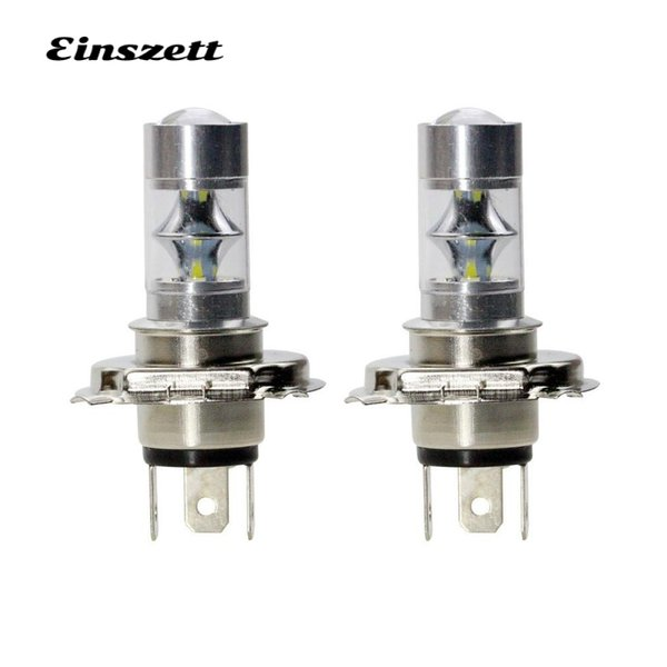 Fendinebbia 2pcs H4 LED High Bright LED bianco faro con lampadina DC12V 12SMD Lights 2835 12W DRL di guida Accessori auto