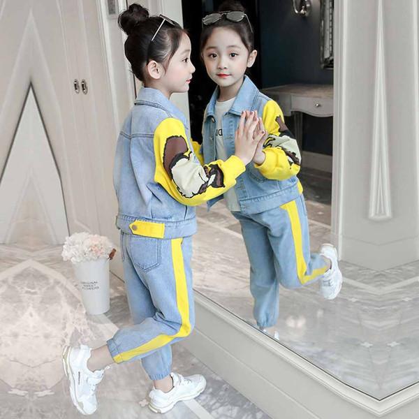 Комплекты детской одежды 2019 Детская мода Активные куртки Пальто и джинсы Брюки Набор детской одежды Осенний спортивный костюм Спортивный костюм