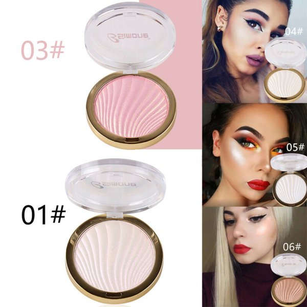 6 colores Polvos Mujeres maquillaje de la cara Ocultar Imperfecciones Corrector Sombra Resalte Pro Blend paleta cosmética compone la herramienta de belleza