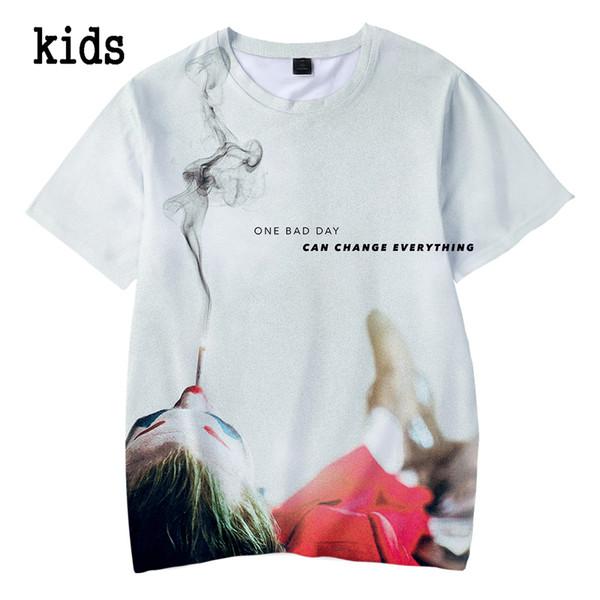 2019 Joker Nuevo álbum Camiseta de verano para niños BTS Niños Camiseta con estampado 3d para niños, niñas, niños, ropa 4 5 6 7 8 9 10 12 años