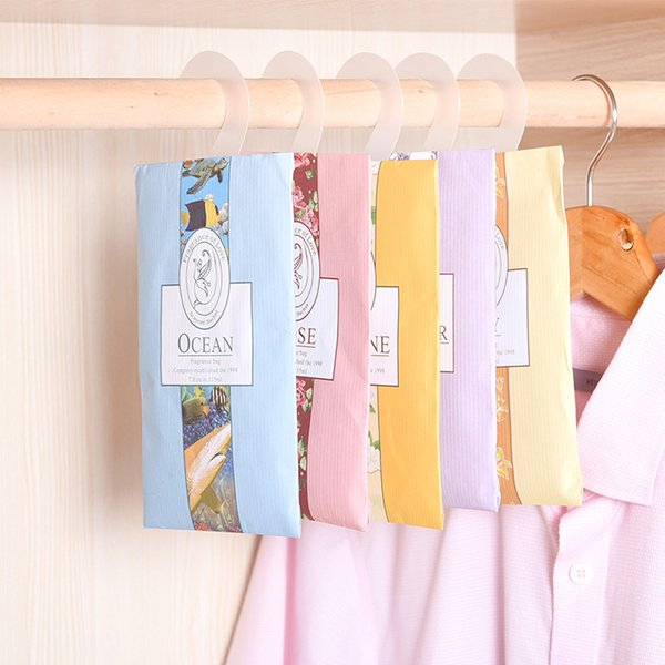 Meetcute 2pcs Aromatherapy Natural Smell Incense Wardrobe Sachet Air Fresh Scent Bag Perfume Lily Ocean Jasmine Lavender Rose