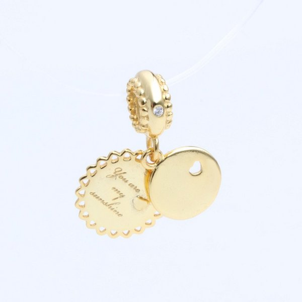 New Real 925 Sterling Silver Bead You Are My Sunshine Pendant 18k Gold Plating Charm Fit Original Women Pandora Bracelets Diy Jewelry Buy At The Price Of 10 89 In Dhgate Com Imall Com