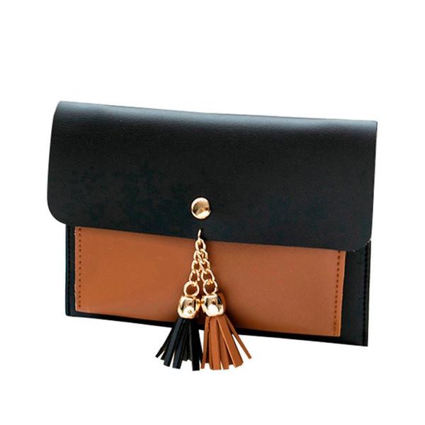 Cheap Women Fashion Double Deck Cover Tassels Crossbody Bag High Quality Leather Totes Bolsas Feminina #YL5