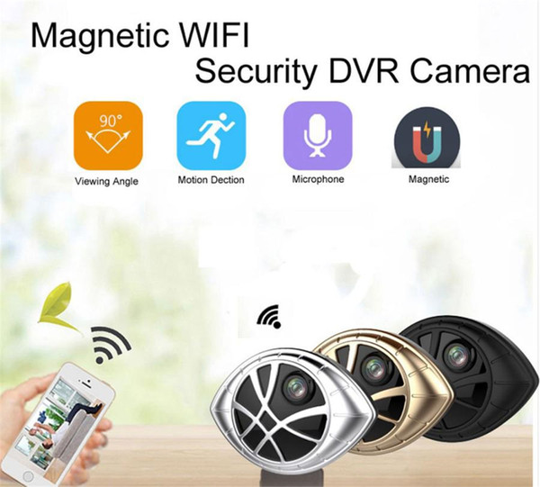 32GB New Super Mini Wifi Camera Portable Magnetic Security DVR Wireless Nanny Cam with Motion Detection for Home Office iPhone Android Phone