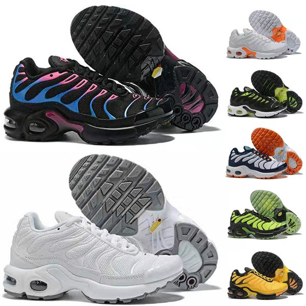 popular brand best shoes best sale Großhandel NIKE AIR MAX TN Neue Baby Kinder Jungen Mädchen Tn Plus Kinder  Laufen Lakeless Schuhe Jungen Mädchen Trainer Stricken Sneaker Kissen Von  ...