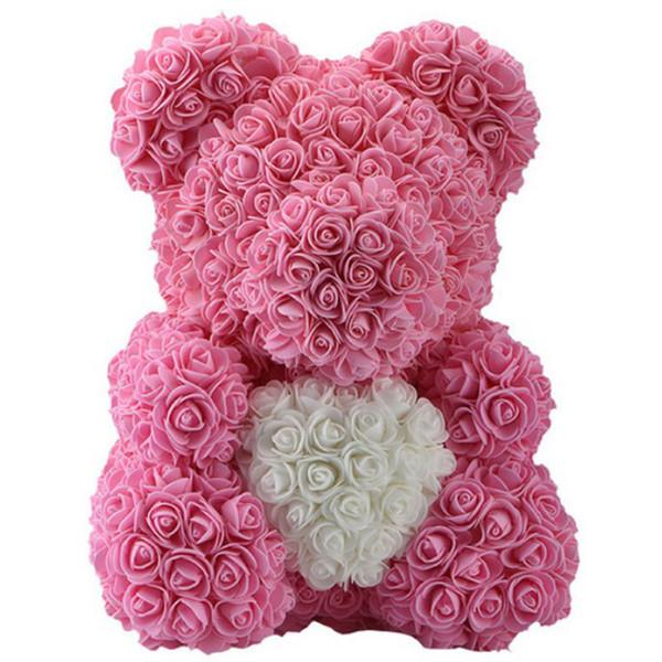 40cm coeur rose