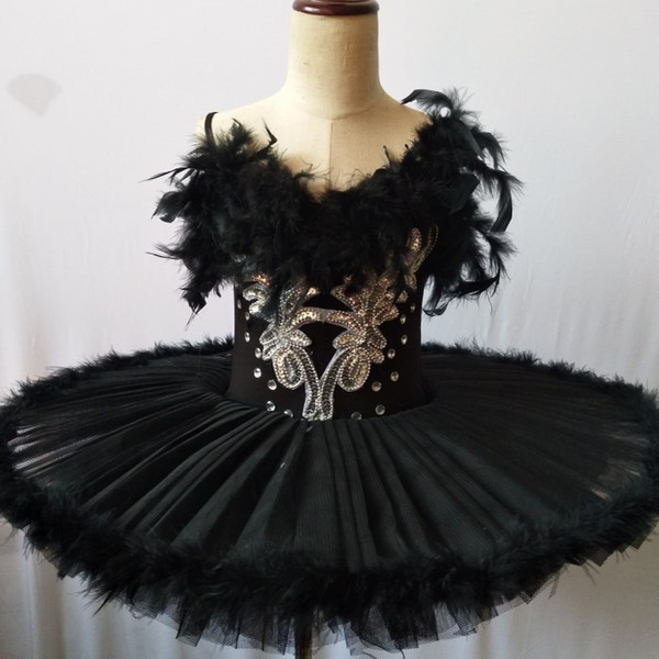 2019 профессиональный балетная пачка Лебединое озеро взрослый балет танцевальная одежда Туту юбка женщины балерина платье для вечеринок девушки