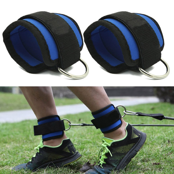 Fitness D-ring Ankle Straps Cable Machines Resistance Bands Gym Men Women Neoprene Padded Ankle Cuffs Weight Lifting Leg Gym Workout
